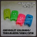 ซิลิโคน รีโมท ปลอกหุ้มกุญแจ สำหรับ เชฟโรเลต โคโลราโด เทรลเบลเซอร์ โซนิค สปิน : Silicone key cover for cars – Chevrolet Colorado Trailblazer SONIC SPIN