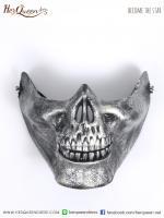 เช่าแฟนซี อุปกรณ์แฟนซี พร๊อพ &#x2665 หน้ากากผี สีเงินรมดำ ครึ่งท่อน