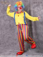 เช่าชุดแฟนซี &#x2665 ชุดแฟนซี ชุดโบโซ่หญิง ชุดตัวตลก คณะละครสัตว์ เสื้อเหลือง เอี๊ยม กางเกงสีรุ้ง