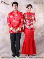 เช่าชุดแฟนซี จีน &#x2665 ชุดแต่งงานพิธีจีน ชุดงานยกน้ำชา เซ็ทเป็ดคู่ และอักษรมงคล - คู่