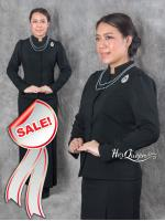 ขายเสื้อจิตรลดา - ชุดไทยไว้ทุกข์ &#x2665 ชุดไทยจิตรลดา ไว้อาลัย ผ้าวูล์