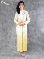 เช่าชุดไทย &#x2665 ชุดไทยบรมพิมาน - สีงาช้าง ผ้าถุงหน้านางไล่สี
