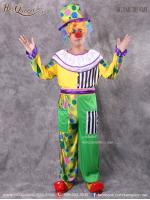 เช่าชุดแฟนซี &#x2665 ชุดแฟนซี ชุดตัวตลกเสื้อแขนยาว สีเหลืองเขียว