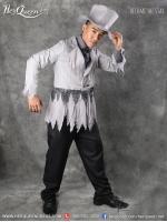 เช่าชุดแฟนซี &#x2665 ชุดสูทเทา ซอมบี้ พร้อมหมวกทรงสูง