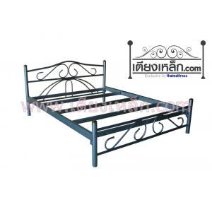 เตียงเหล็กเสากลม รุ่นลอนดอน