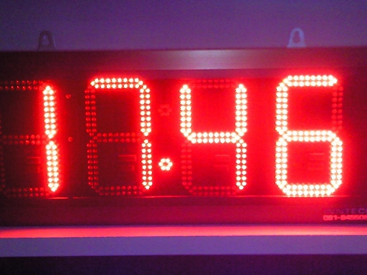 นาฬิกาดิจิตอลLED 9นิ้ว 4หลัก