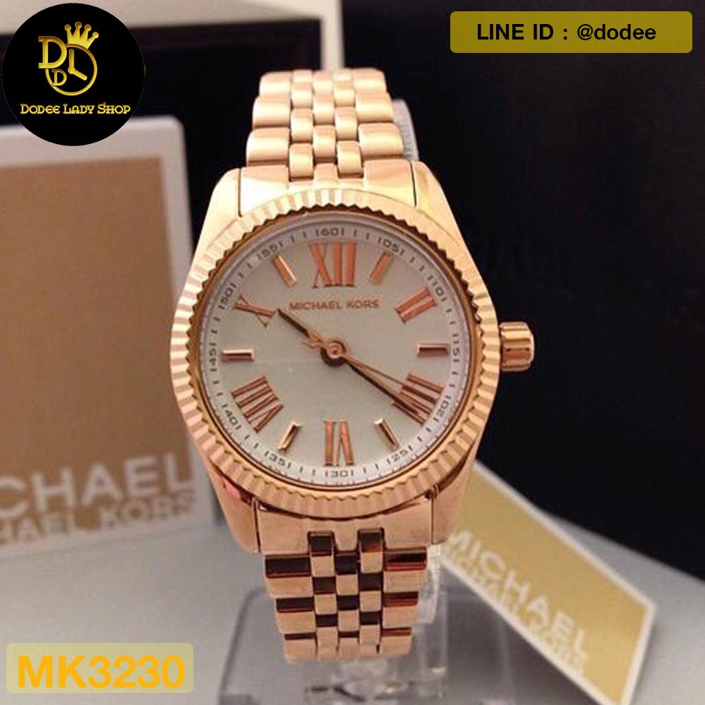Michael Kors Lexington White Dial Rose Gold-tone Ladies Watch MK3230