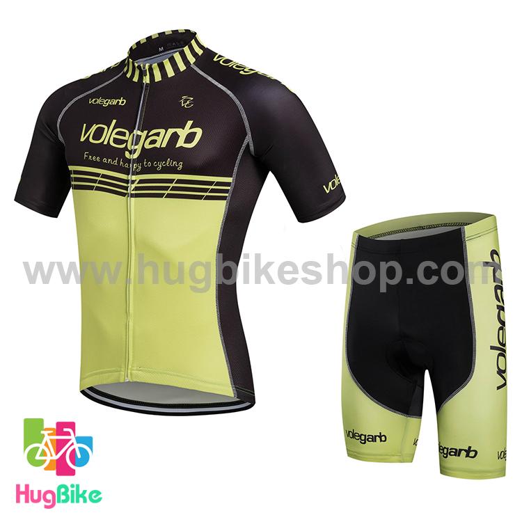ชุดจักรยานแขนสั้น Volegarb 16 (14) สีดำเขียวอ่อน