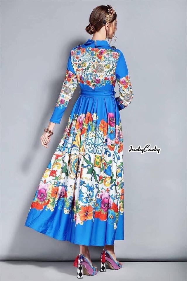 Maxi Dress ดีไซน์สวย เดรสคอปก
