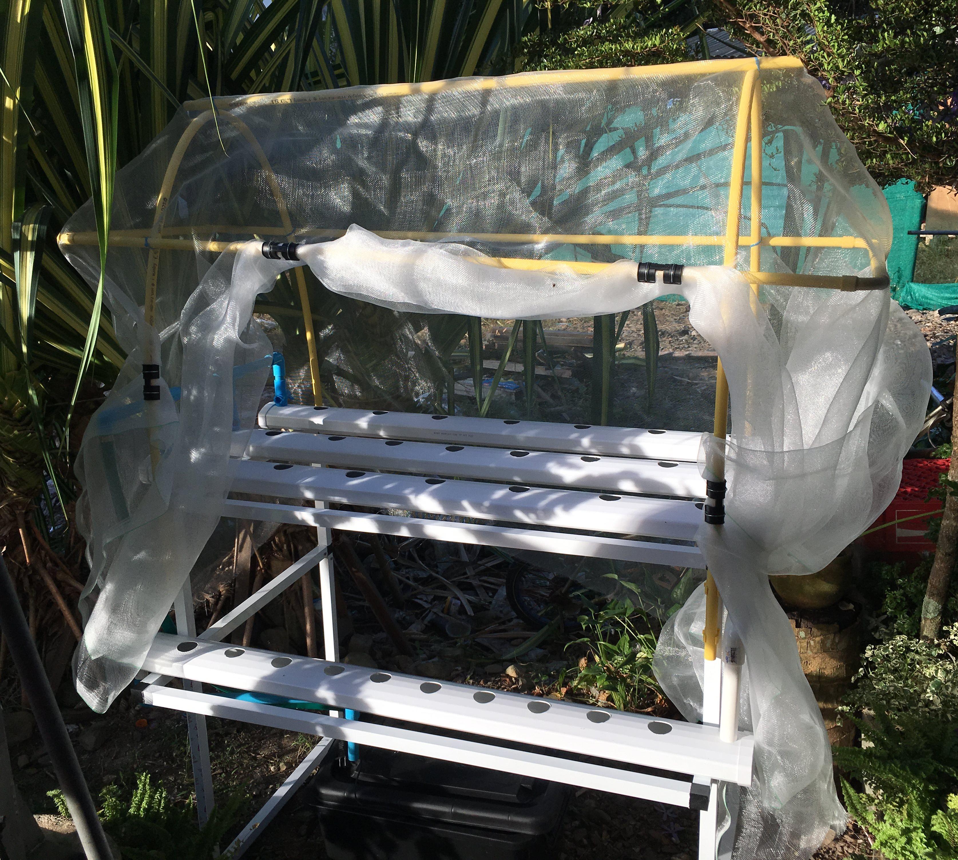 ชุดปลูกผักไฮโดรโปนิกส์ (Hydroponic Set) 30 ช่องปลูก+รางอนุบาล