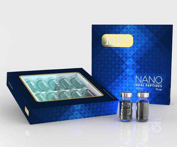 กลุ่มสุขภาพ - ฟื้นฟู MF+ NANO CELL EXTRACTS NANOTECHNOLOGY IN CELL REGENERATION 1200mg. 10 vials x 2.5ml per set