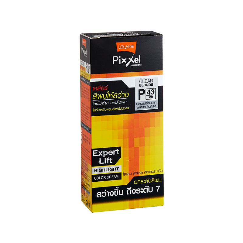 โลแลน พิกเซล คัลเลอร์ครีม P43 บลอนด์อ่อนมากพิเศษสว่างมากที่สุด (Clear Blonde) ยกระดับสีผม สว่างขึ้น ถึงระดับ 7