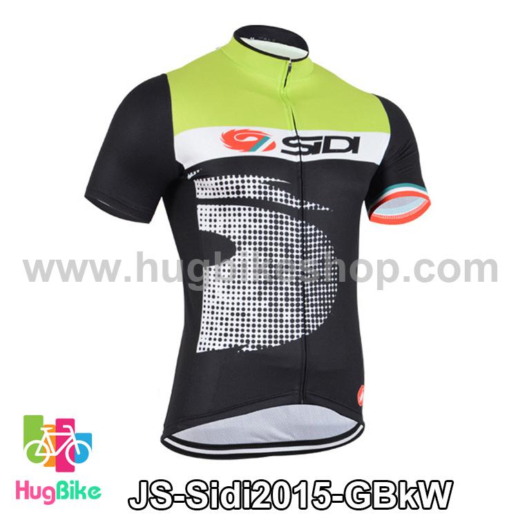 เสื้อจักรยานแขนสั้นทีม Sidi 15 สีเขียวดำขาว สั่งจอง (Pre-order)