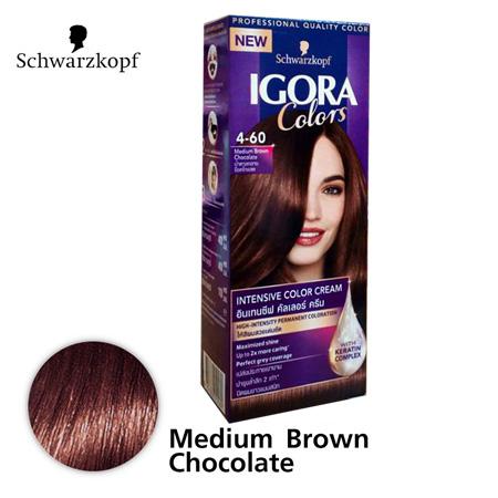 Schwarzkopf IGORA Colors อีโกร่า อินเทนซีฟ คัลเลอร์ ครีม 4-60 Medium Brown Chocolate น้ำตาลกลางช็อคโกแลต