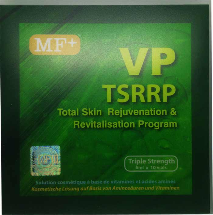 MF+ Total Skin Rejuvenation and Revitalization Program (Vegetal Placenta) [MFIII TSRRP TRIPLE Strength] Look And Feel Younger Now! PLUS NATURAL WHITENING EFFECT 6ml x 900mg. x 10 Amps. สูตรดั้งเดิม