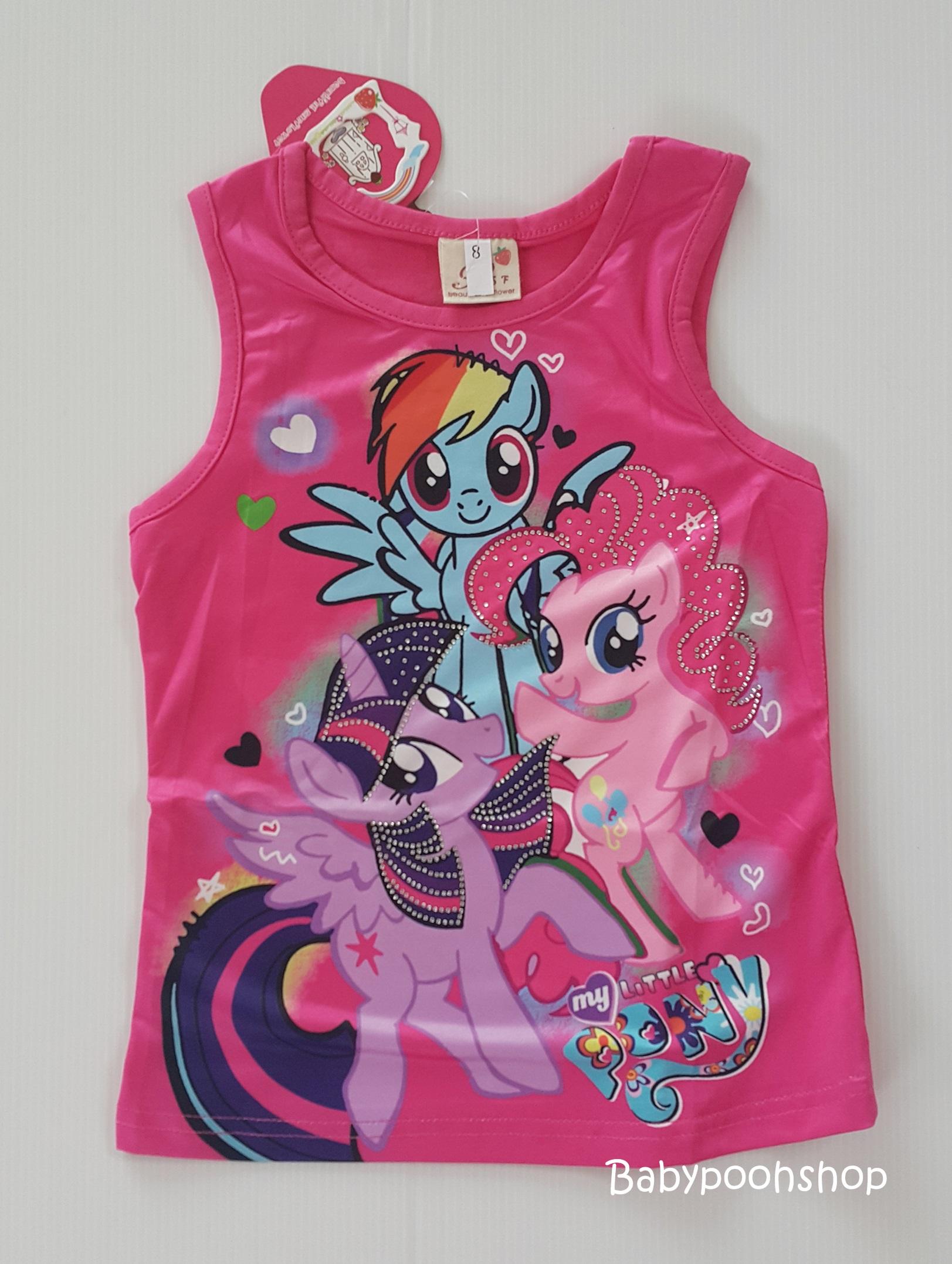 เสื้อกล้าม my little Pony สีชมพูเข้ม size : 8 (2-3y) / 10 (3-4y) / 12 (4-5y) / 14 (5-6y)