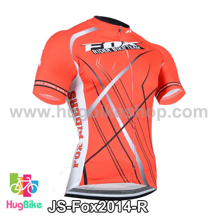 เสื้อจักรยานแขนสั้นทีม Fox 2014 สีแดง สั่งจอง (Pre-order)