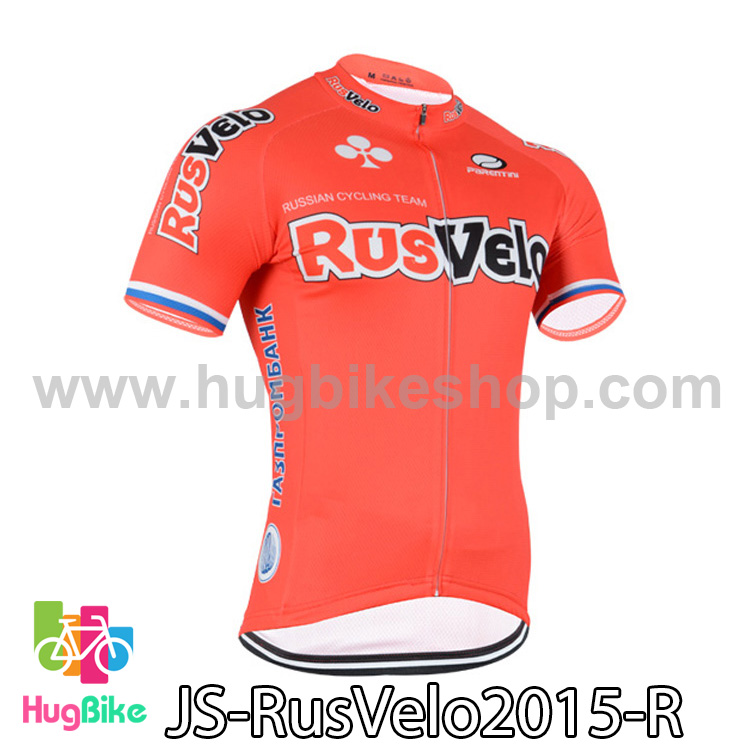 เสื้อจักรยานแขนสั้นทีม RusVelo 2015 สีแดง สั่งจอง (Pre-order)