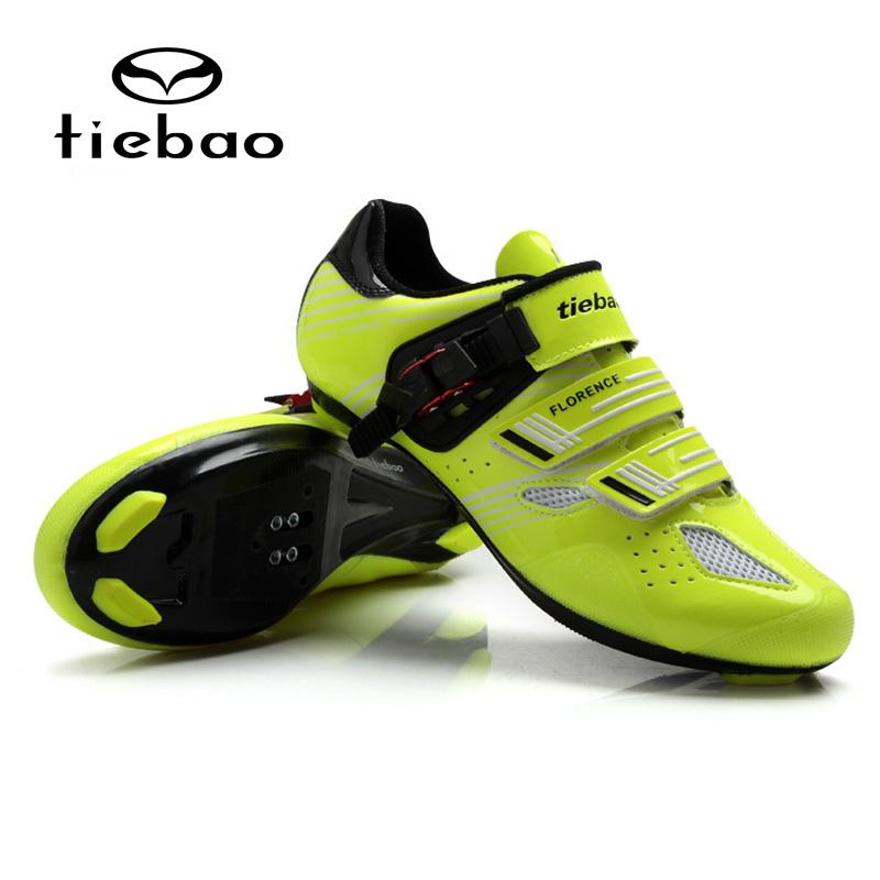 รองเท้าจักรยานเสือหมอบ TIEBAO รุ่น TB16-B1330 สีเขียวดำ ตัวรัดออโต้