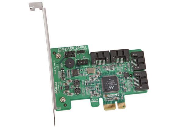 HighPoint RR2640x1 : 4 channels, 4x Internal SATA, PCI-E x1,RAID Controller,SAS/SATAII