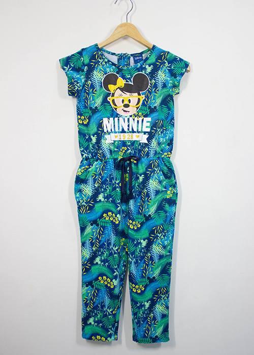 Disney : จั๊มสูท ลายมินนี่เมาส์ สีเขียวใบไม้ size XL