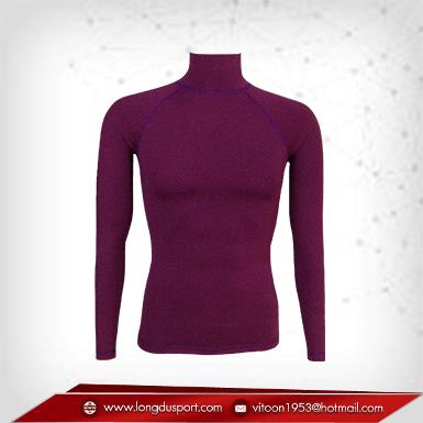 Body Fit / Base Layer เสื้อรัดรูป คอตั้ง แขนยาว สีม่วง purple