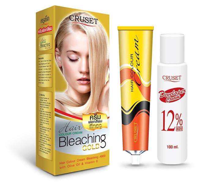 ครีมฟอกสีผม ครูเซ็ท แฮร์ คัลเลอร์ ครีม บลีชชิ่ง เอ 900 / Cruset Hair Colour Cream Bleaching Glod A900 50 ml+100 ml