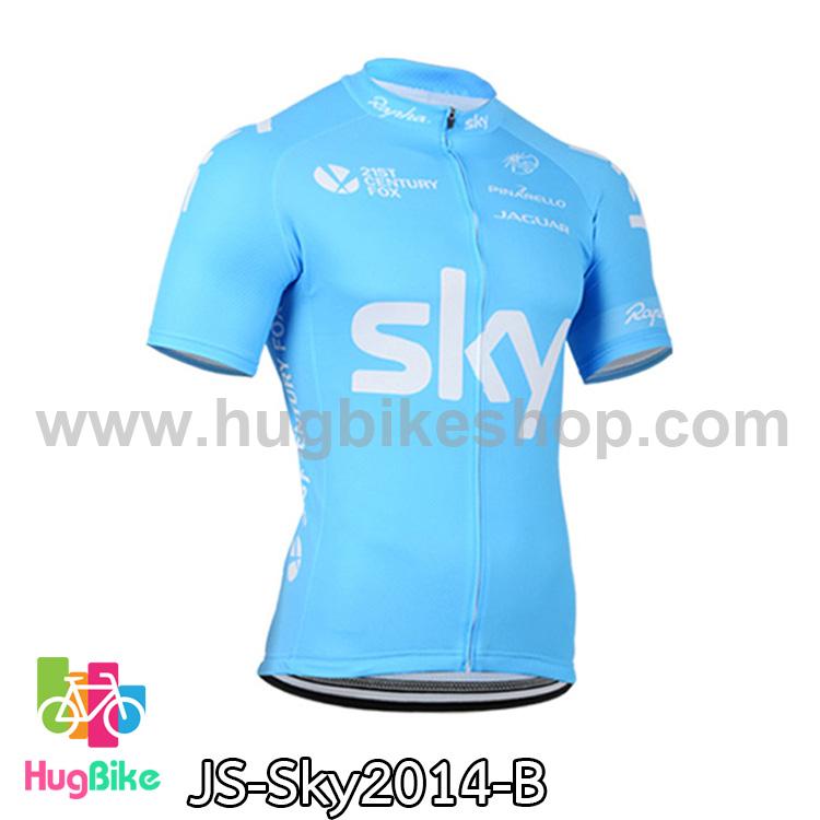 เสื้อจักรยานแขนสั้นทีม Sky 14 สีฟ้า สั่งจอง (Pre-order)