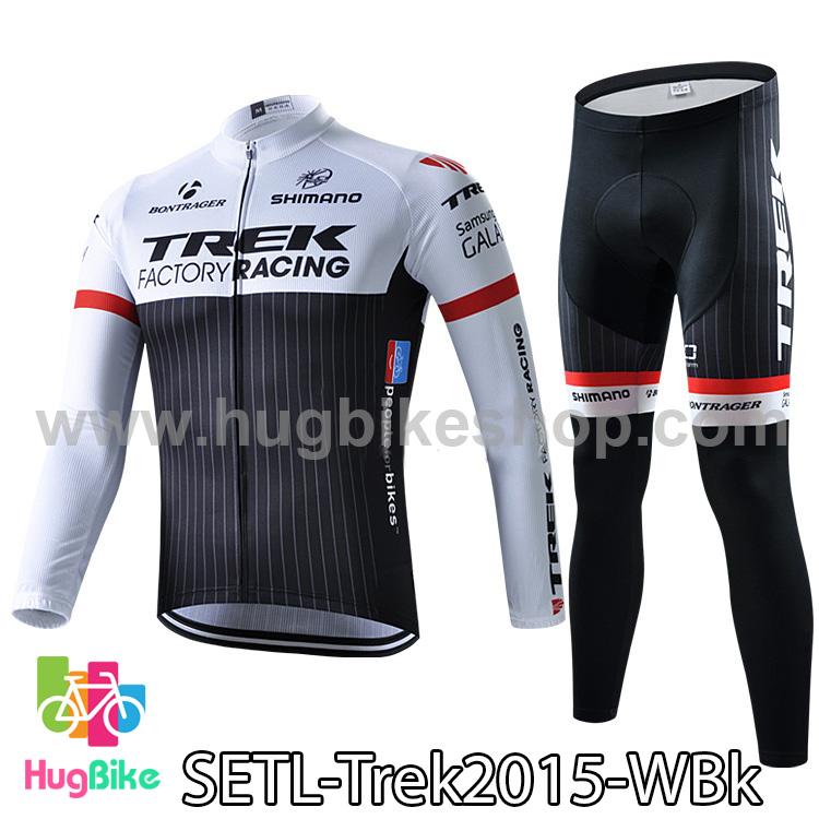 ชุดจักรยานแขนยาวทีม Trek 15 สีขาวดำ สั่งจอง (Pre-order)