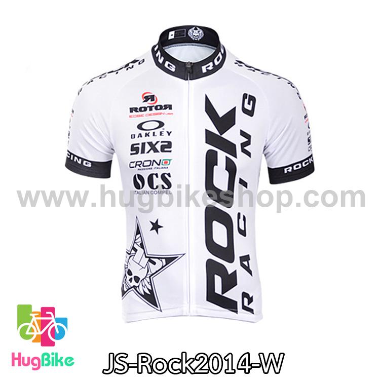 เสื้อจักรยานแขนสั้นทีม Rock Racing 2014 สีขาว สั่งจอง (Pre-order)