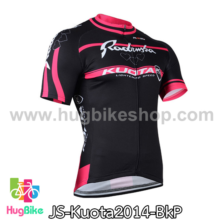เสื้อจักรยานแขนสั้นทีม Kuota 2014 สีดำชมพู สั่งจอง (Pre-order)