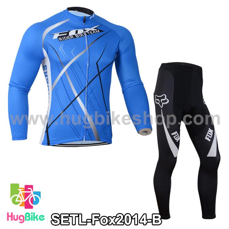 ชุดจักรยานแขนยาวทีม Fox 14 สีน้ำเงิน สั่งจอง (Pre-order)