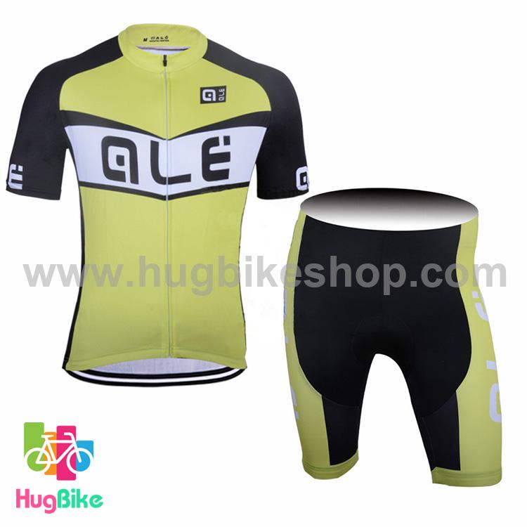 ชุดจักรยานแขนสั้นทีม Ale 17 (01) สีเขียวอ่อนดำ