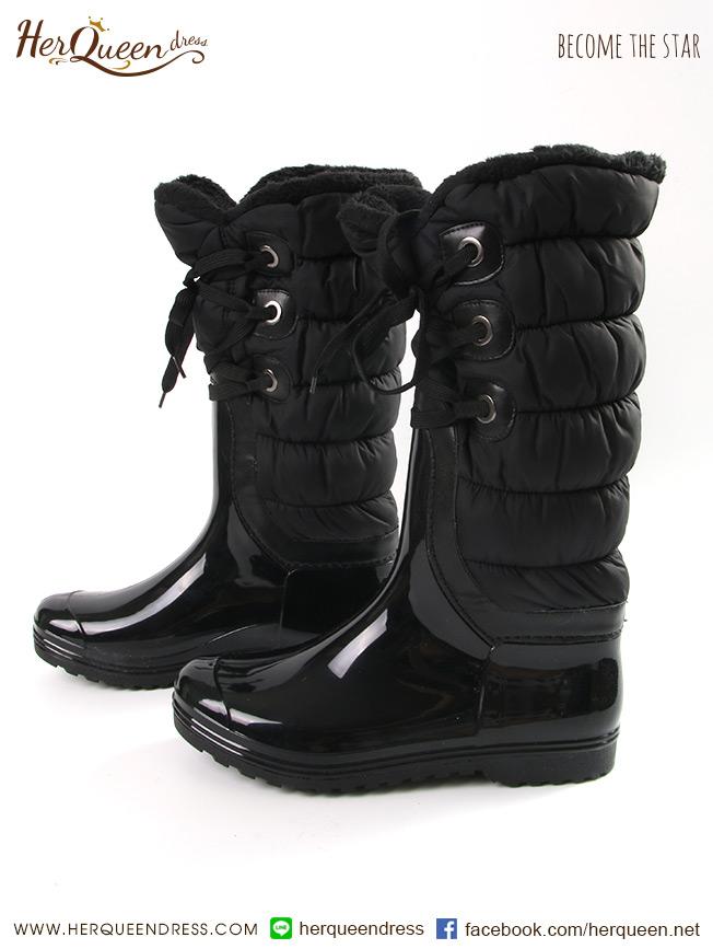เช่ารองเท้า &#x2665 รองเท้าลุยหิมะ รองเท้ากันหนาว - สีดำ
