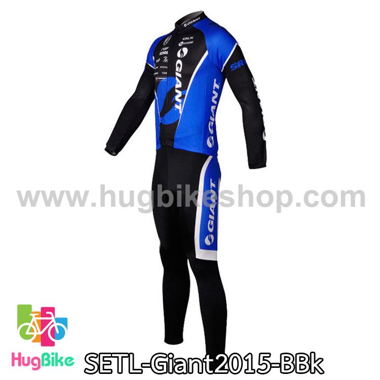 ชุดจักรยานแขนยาวทีม Giant 15 สีน้ำเงินดำ (06) สั่งจอง (Pre-order)
