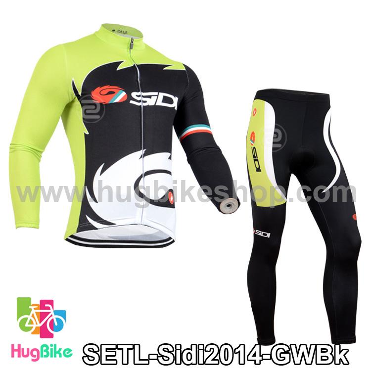 ชุดจักรยานแขนยาวทีม Sidi ปี 14 สีเขียวขาวดำ สั่งจอง (Pre-order)