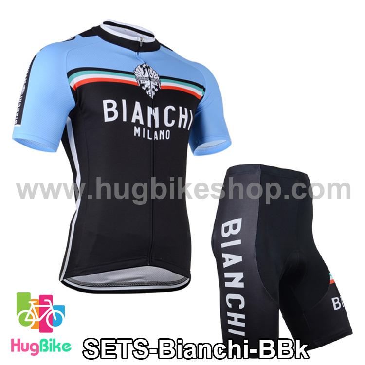 ชุดจักรยานแขนสั้นทีม Bianchi 14 (04) สีฟ้าดำ สั่งจอง (Pre-order)
