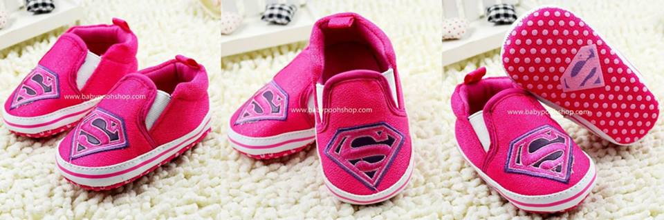 **Super girl** Pre walker shoe สีโรส
