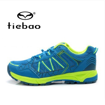 รองเท้าจักรยานเสือภูเขาแบบผ้าใบ TIEBAO รุ่น TB22-B1323 สีฟ้าเขียว