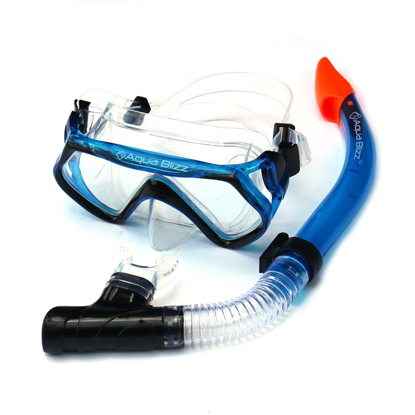 หน้ากากดำน้ำ สำหรับผู้ใหญ่ ซิลิโคนอย่างดี ไม่มีกลิ่นเหม็น สีน้ำเงิน