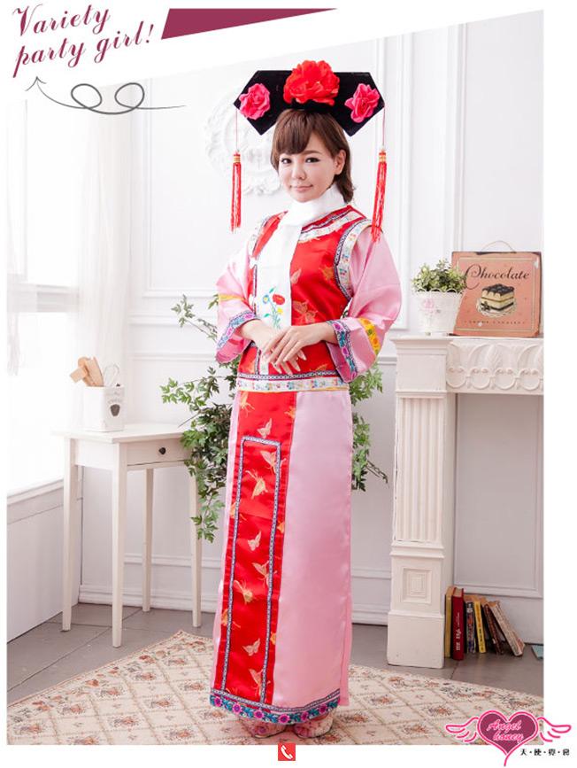 เช่าชุดแฟนซี &#x2665 ชุดแฟนซี ชุดเจ้าหญิงกำมะลอ ชุดแยกชิ้น - สีแดงชมพู