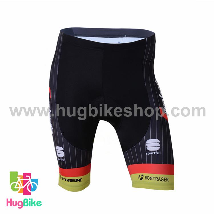 กางเกงจักรยานขาสั้นทีม Trek 17 (03) สีเขียวดำ