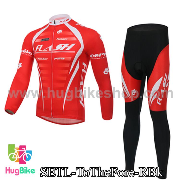ชุดจักรยานแขนยาว ประกอบภาพยนต์ To The Fore สีแดง