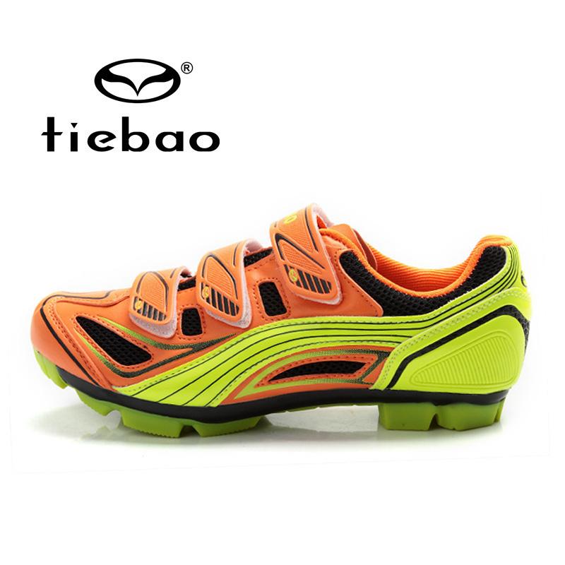 รองเท้าจักรยานเสือภูเขา TIEBAO รุ่น TB15-B1235 สีส้มเหลือง