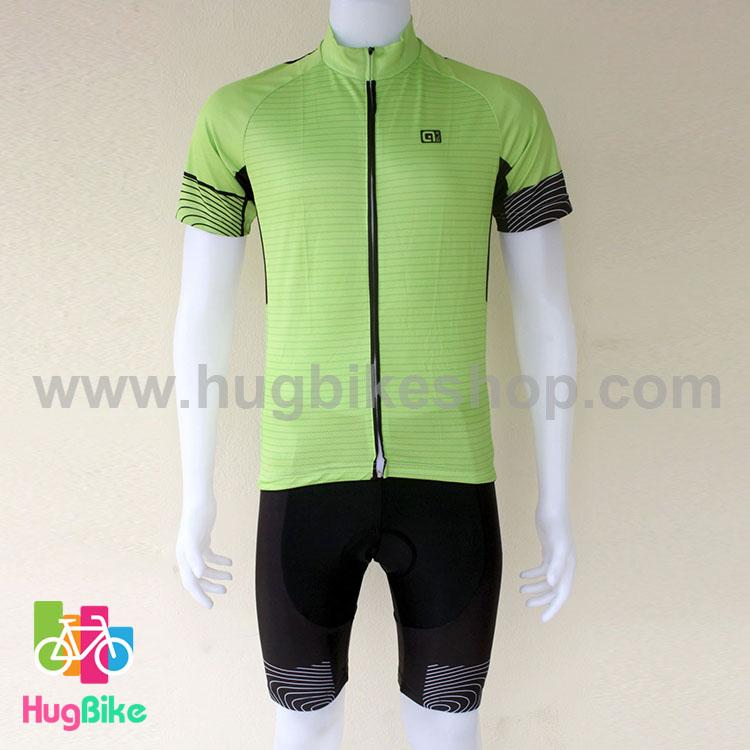 ชุดจักรยานแขนสั้นทีม Ale 16 (02) สีเขียว