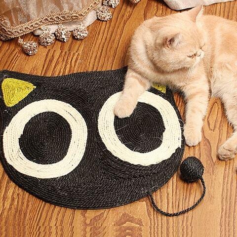 แผ่นลับเล็บแมว รูปหน้าแมวดำ