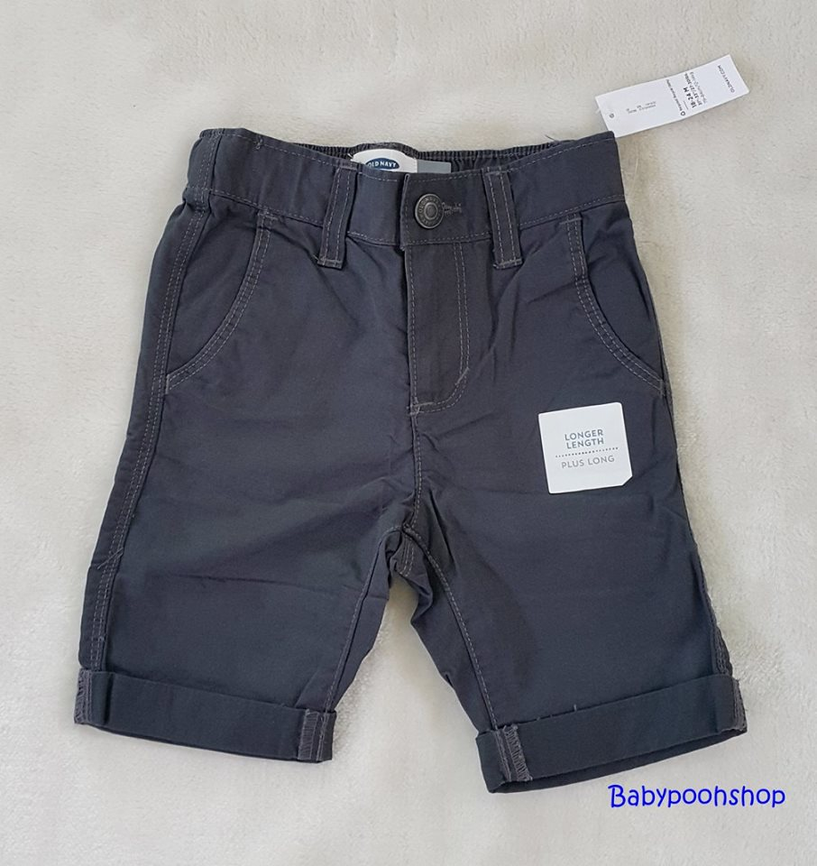 Oldnavy : กางเกงขาสามส่วน สีน้ำเงิน (มีสายปรับเอว) size : 12-18m / 18-24m