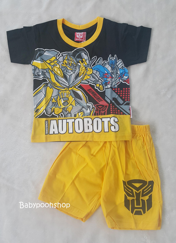 set เสื้อ+กางเกงขาสั้น AUTOBOTS size : S ( 3-4y)