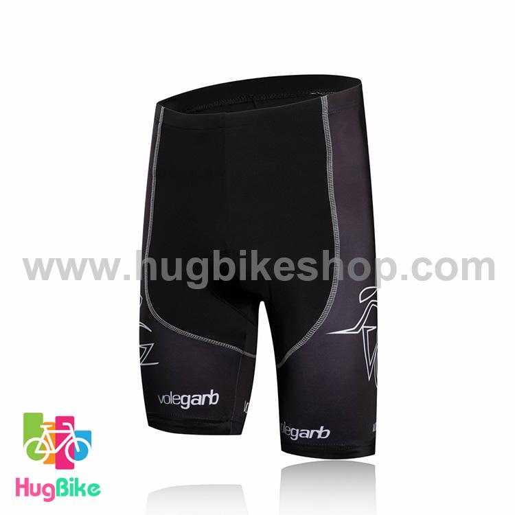 กางเกงจักรยานขาสั้นทีม Volegarb 16 (07) สีดำขาวลายเขียว