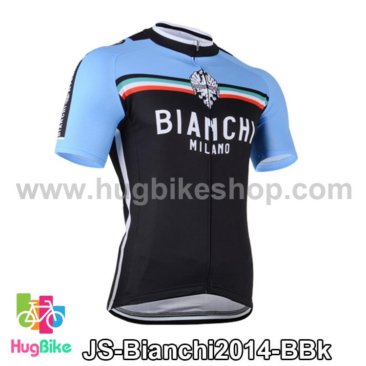 เสื้อจักรยานแขนสั้นทีม Bianchi 2014 สีน้ำเงินดำ สั่งจอง (Pre-order)